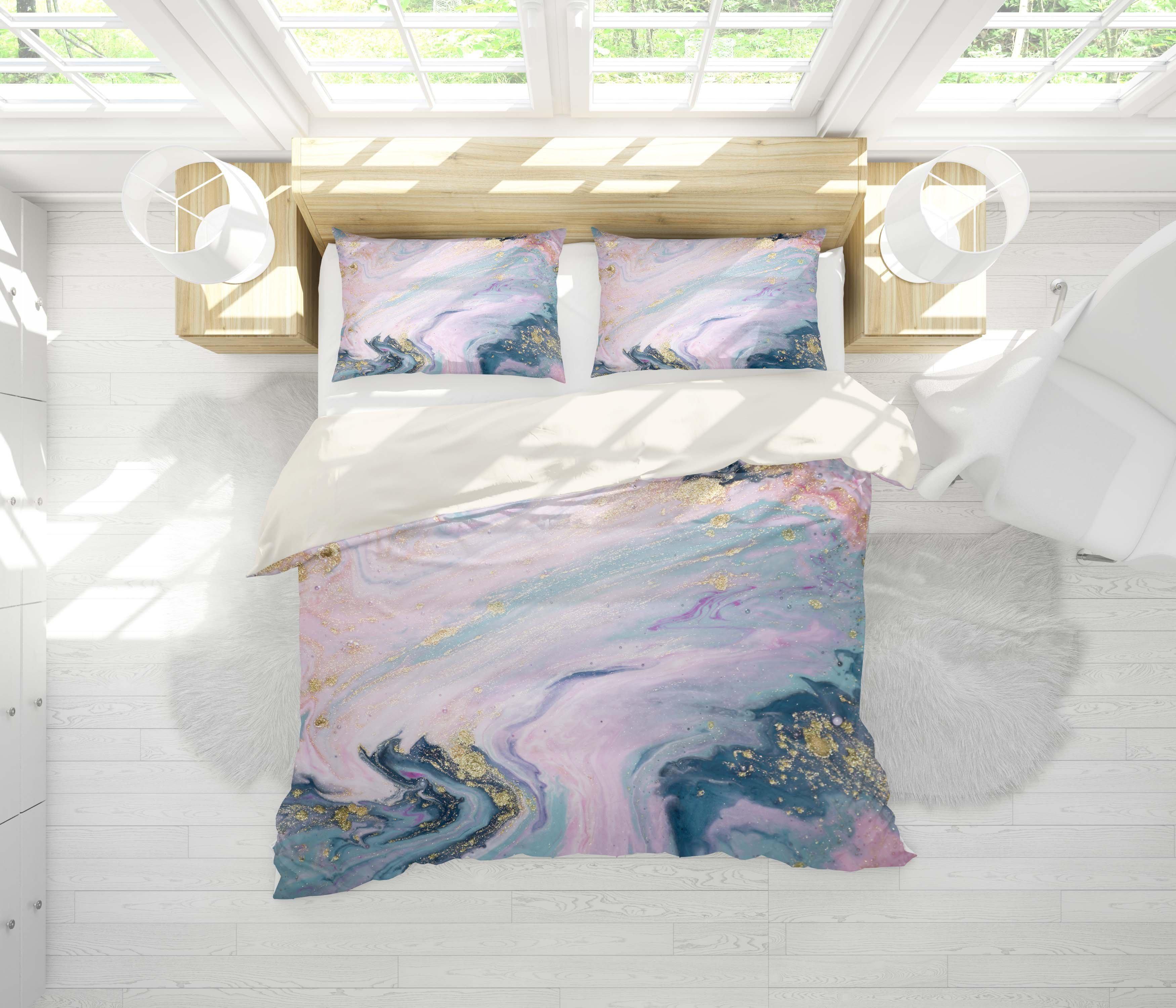 3d Purple Marble Texture Quilt Cover Set Bedding Set Pillowcases 115 Queen Matt Blatt