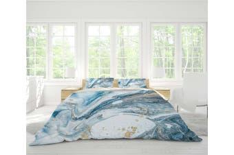 3D Blue Marble Texture Quilt Cover Set Bedding Set Pillowcases 112-Queen