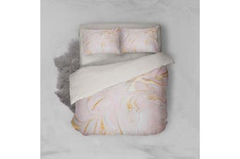 3D Pink Marble Texture Quilt Cover Set Bedding Set Pillowcases 105-King