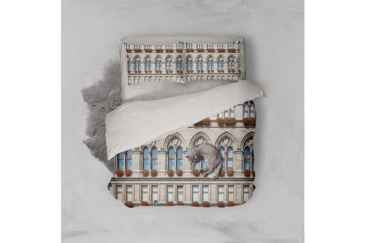 3D European Style Building Quilt Cover Set Bedding Set Pillowcases 104-Single