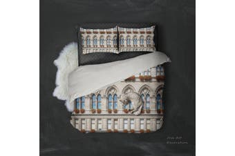 3D European Style Building Quilt Cover Set Bedding Set Pillowcases 104-King
