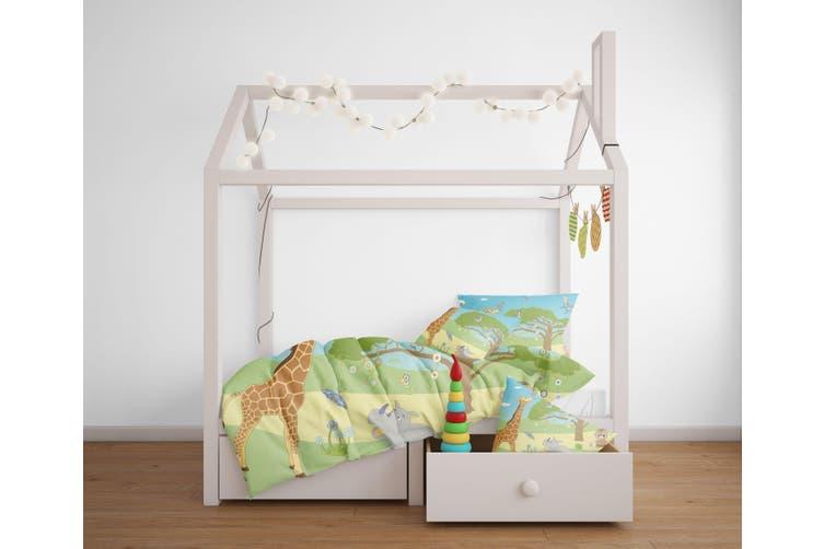 3D Cartoon Giraffe Rhinoceros Quilt Cover Set Bedding Set Pillowcases 103-Double