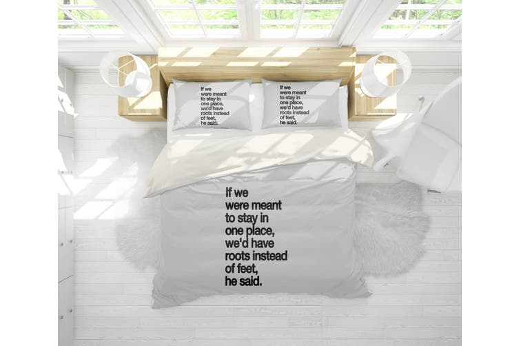3D Emotional Quotations White Quilt Cover Set Bedding Set Pillowcases 204-Single