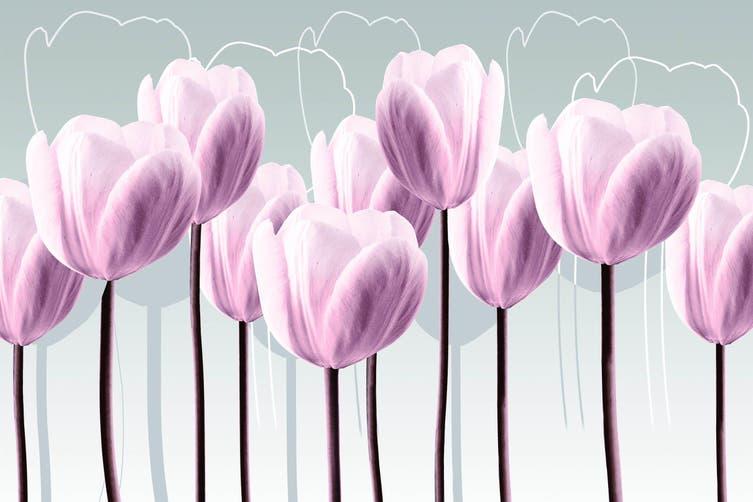 3D Pink Tulip Quilt Cover Set Bedding Set Pillowcases 71-Single
