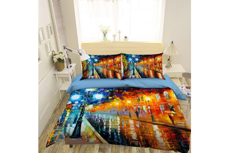 3D White Elk Mushroom Floral Quilt Cover Setss Bedding Setss Pillowcases 58-Double