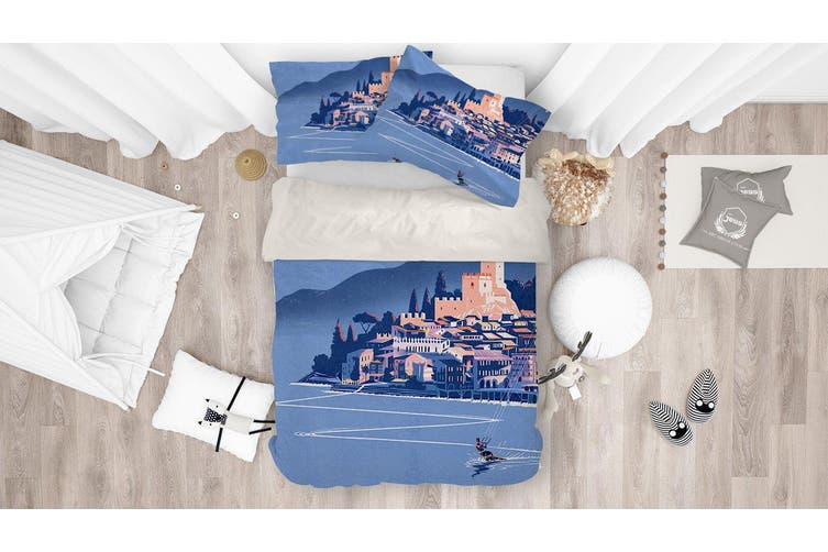 3D Coastal City Quilt Cover Set Bedding Set Pillowcases 172-King