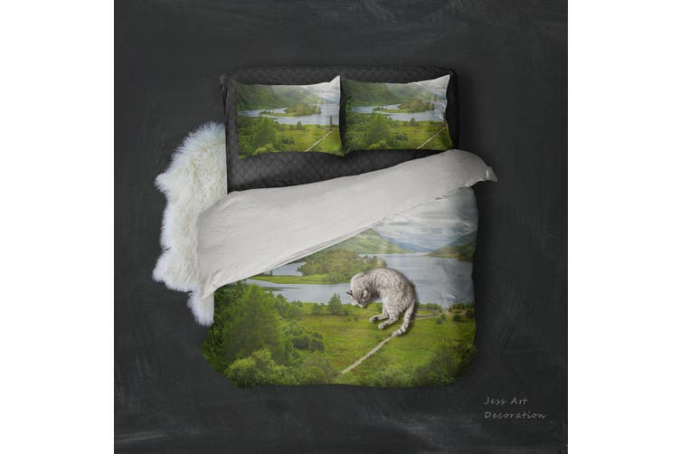 3D Green Grassland Landscape Quilt Cover Set Bedding Set Pillowcases 98-Double