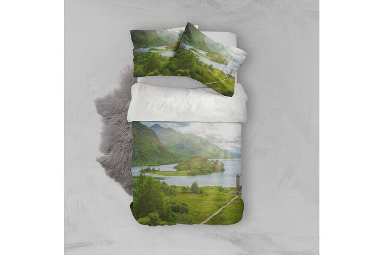 3D Green Grassland Landscape Quilt Cover Set Bedding Set Pillowcases 98-King