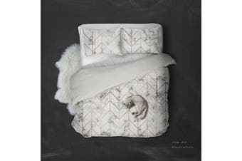 3D Marble Golden Lines Quilt Cover Set Bedding Set Pillowcases 95-King