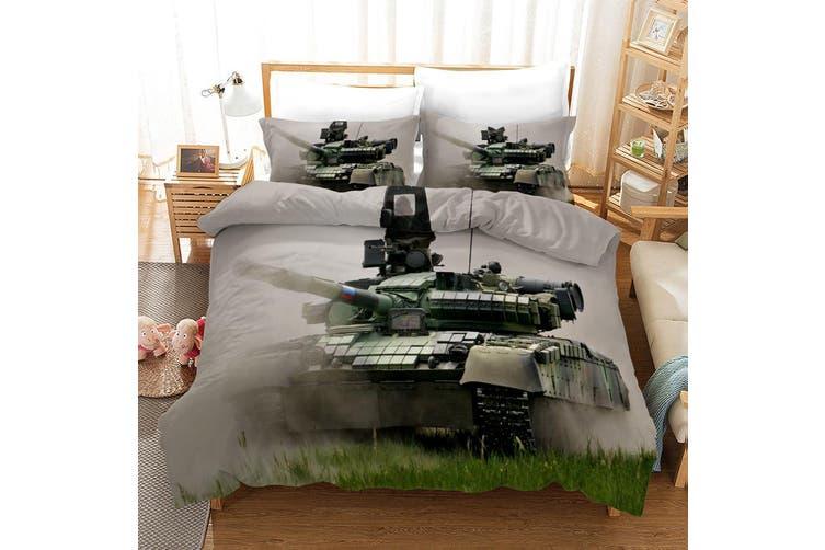 3D Tank Pattern Quilt Cover Set Bedding Set Pillowcases 51-Queen