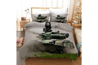 3D Tank Pattern Quilt Cover Set Bedding Set Pillowcases 51-King