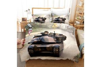 3D Tank Pattern Quilt Cover Set Bedding Set Pillowcases 60-Single