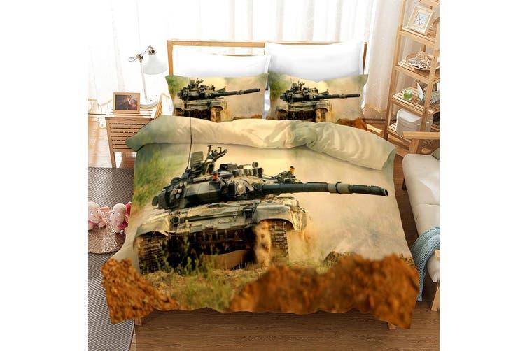 3D Tank Pattern Quilt Cover Set Bedding Set Pillowcases 58-King