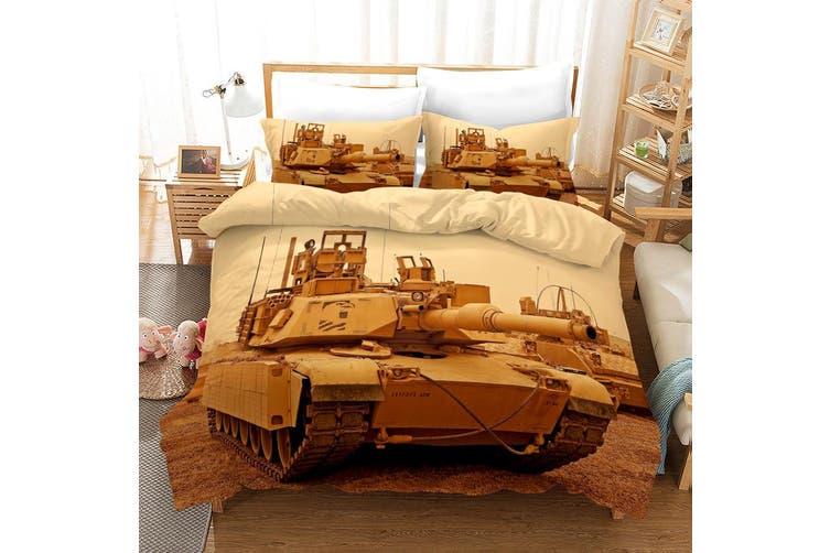 3D Tank Pattern Quilt Cover Set Bedding Set Pillowcases 55-Queen