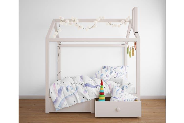 3D Color Letter Pattern Quilt Cover Set Bedding Set Pillowcases  115-Queen