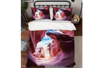 3D Sky Grand Canyon Quilt Cover Set Bedding Set Pillowcases 16-Double