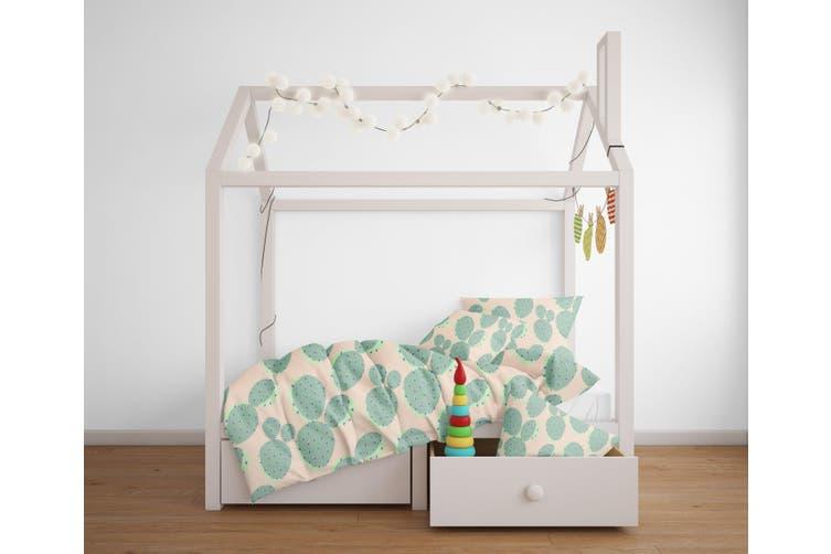 3D Green Cactus Pattern Quilt Cover Set Bedding Set Pillowcases  111-Single
