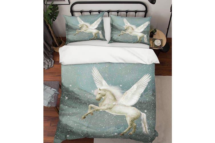 3D Pegasus Mountains Snow Quilt Cover Set Bedding Set Pillowcases 14-Single