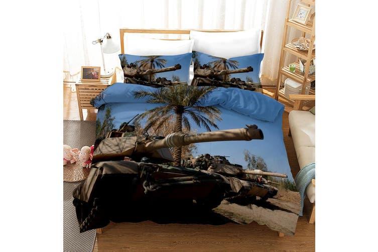 3D Tank Blue Sky Quilt Cover Set Bedding Set Pillowcases 53-Double
