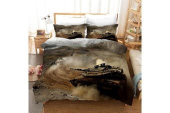 3D Tank Smoke Quilt Cover Set Bedding Set Pillowcases 52-Double