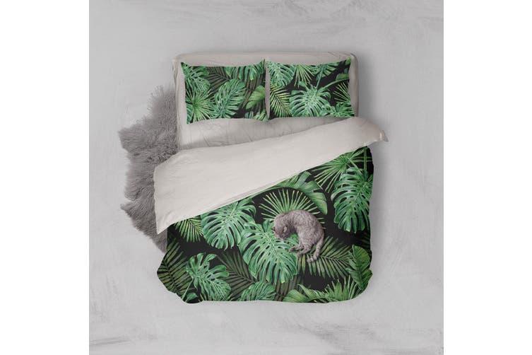 3D Green Tropical Palm Tree Quilt Cover Set Bedding Set Pillowcases  90-Queen