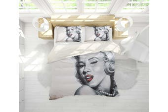 3D Famous Sexy Actress Quilt Cover Set Bedding Set Pillowcases 30-Double