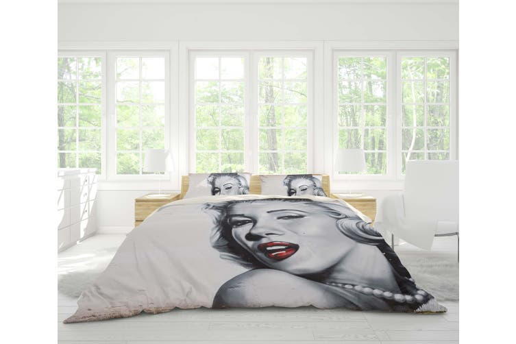 3D Famous Sexy Actress Quilt Cover Set Bedding Set Pillowcases 30-King
