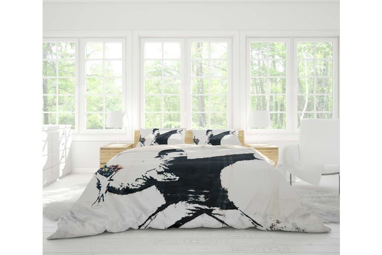 3D Black Boy Quilt Cover Set Bedding Set Pillowcases 29-Double