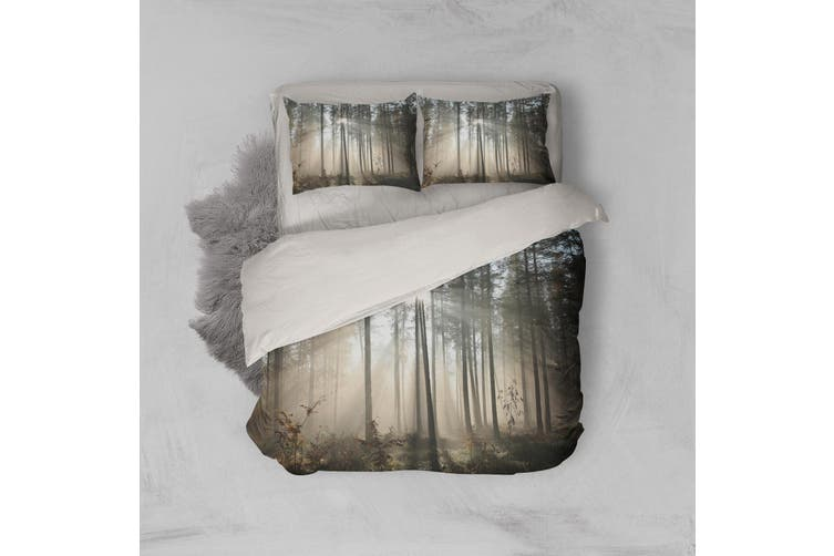 3D Sunset Forest Quilt Cover Set Bedding Set Pillowcases 27-King