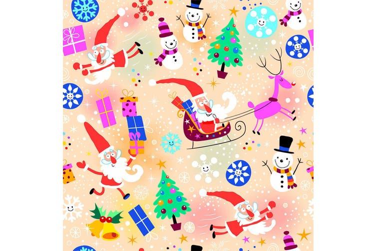 3D Christmas Santa Claus Elk Snowman Snowflake Quilt Cover Set Bedding Set Pillowcases 03-King