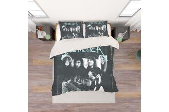 3D Metallica Rock Band Quilt Cover Set Bedding Set Pillowcases 28-Single