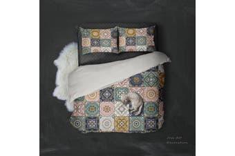 3D Plaid Color Pattern Quilt Cover Set Bedding Set Pillowcases  10-Double