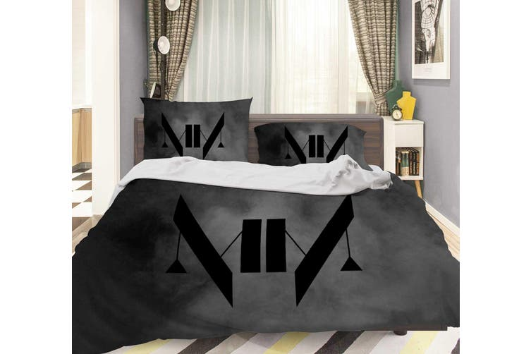 3D Marilyn Manson Quilt Cover Set Bedding Set Pillowcases 25-Double