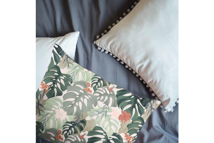 3D Green Plant Leaf Pattern Quilt Cover Set Bedding Set Pillowcases  6-Single