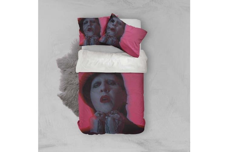 3D Marilyn Manson Quilt Cover Set Bedding Set Pillowcases 22-Double