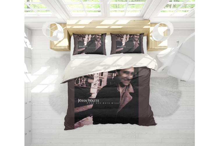 3D John Waite Quilt Cover Set Bedding Set Pillowcases 20-King
