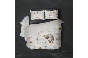 3D Color Flower Watercolor Quilt Cover Set Bedding Set Pillowcases  4-Single