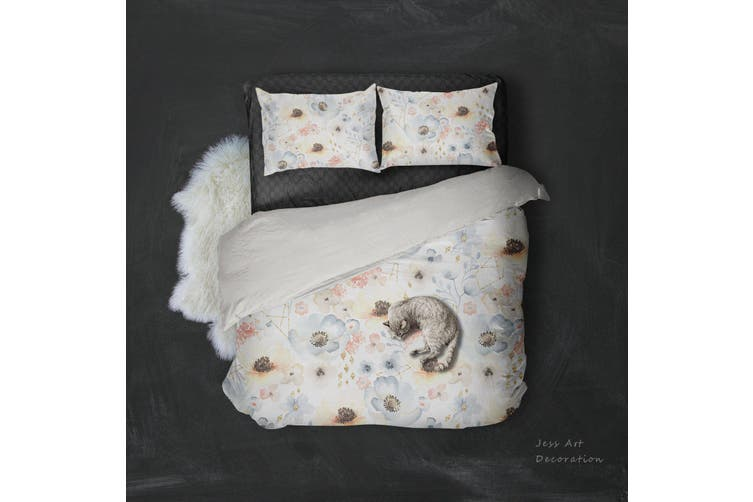 3D Color Flower Watercolor Quilt Cover Set Bedding Set Pillowcases  4-Queen