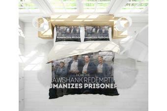 3D The Shawshank Redemption Quilt Cover Set Bedding Set Pillowcases 119-Single