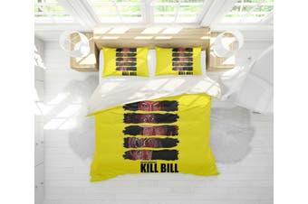 3D Yellow Kill Bill Quilt Cover Set Bedding Set Pillowcases 116-Queen