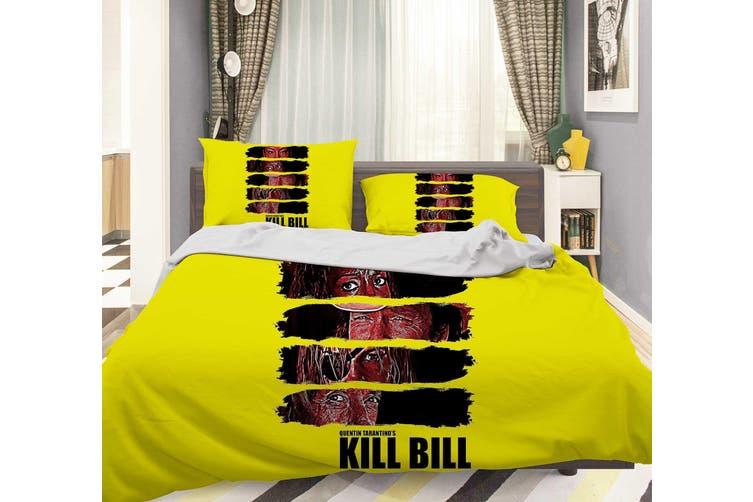 3D Yellow Kill Bill Quilt Cover Set Bedding Set Pillowcases 116-King