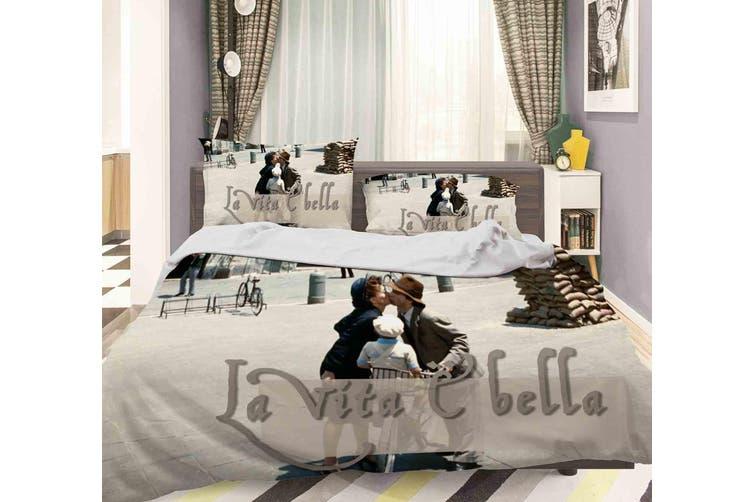 3D La Vita 猫 bella Quilt Cover Set Bedding Set Pillowcases 114-Double
