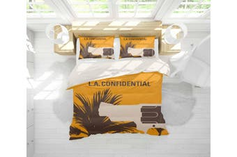 3D Yellow L.A. Confidential Quilt Cover Set Bedding Set Pillowcases 112-Single