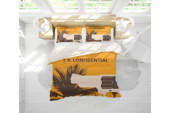3D Yellow L.A. Confidential Quilt Cover Set Bedding Set Pillowcases 112-Double