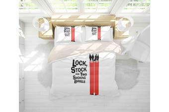 3D Stock and Two Smo Barrels Quilt Cover Set Bedding Set Pillowcases 104-King