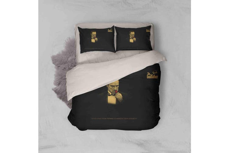 3D The Godfather Quilt Cover Set Bedding Set Pillowcases 103-Double