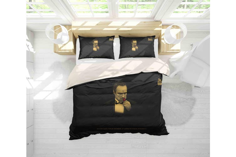 3D The Godfather Quilt Cover Set Bedding Set Pillowcases 103-King
