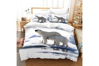 3D Polar Bear Quilt Cover Set Bedding Set Pillowcases 15-Double