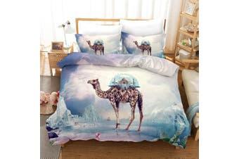3D Sky Glacier Camel Quilt Cover Set Bedding Set Pillowcases 13-King
