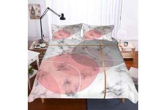 3D Pink-tones  Marble texture  Quilt Cover Sets Bedding Sets Pillowcases-Single
